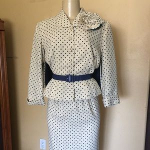 Vintage Polka Dot Jacket and skirt set